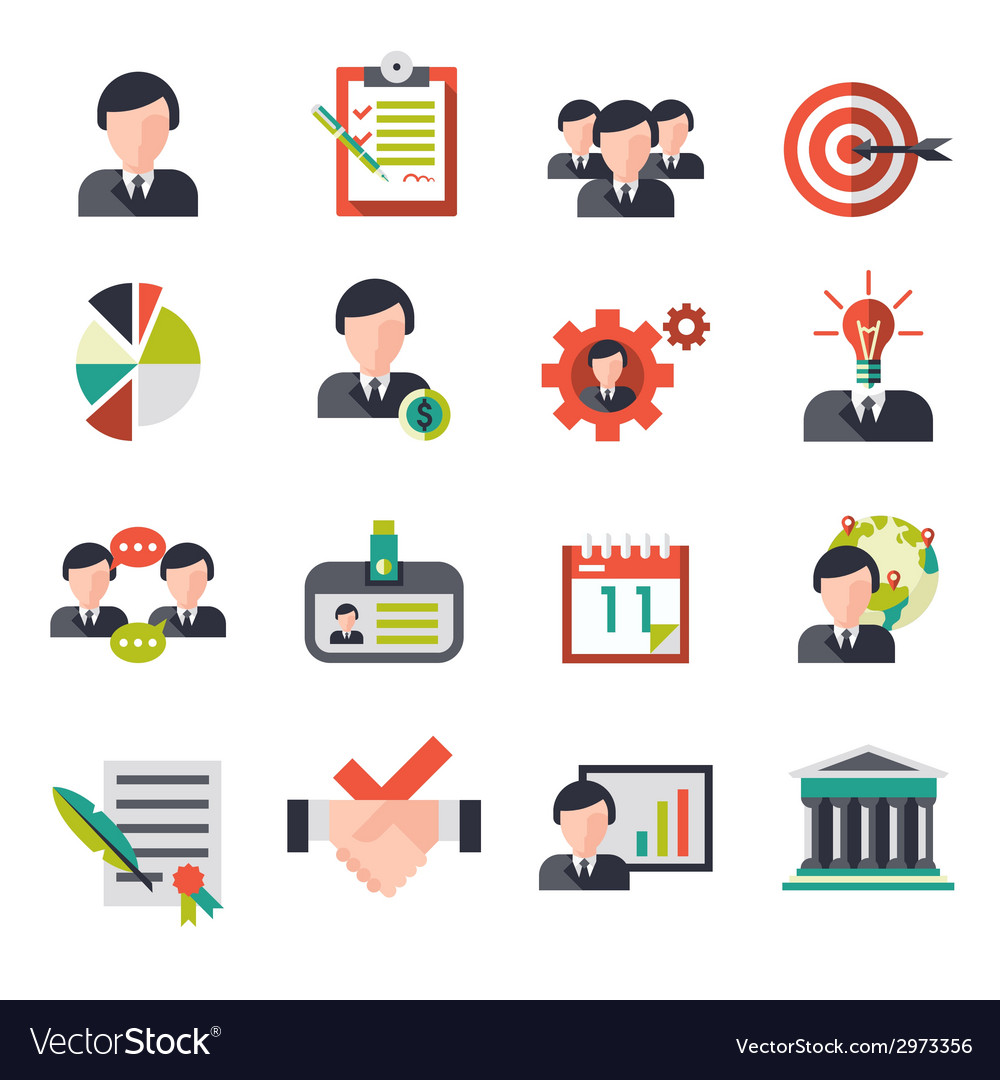 Business management icons vector | Price: 1 Credit (USD $1)