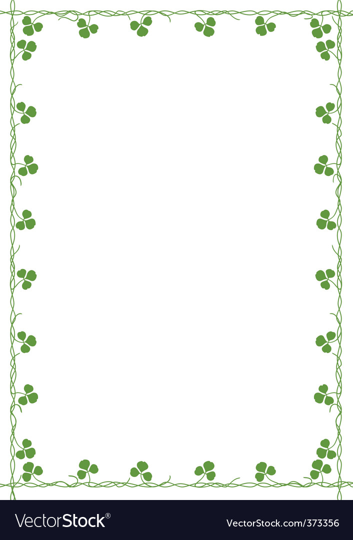 Frame with clover vector | Price: 1 Credit (USD $1)