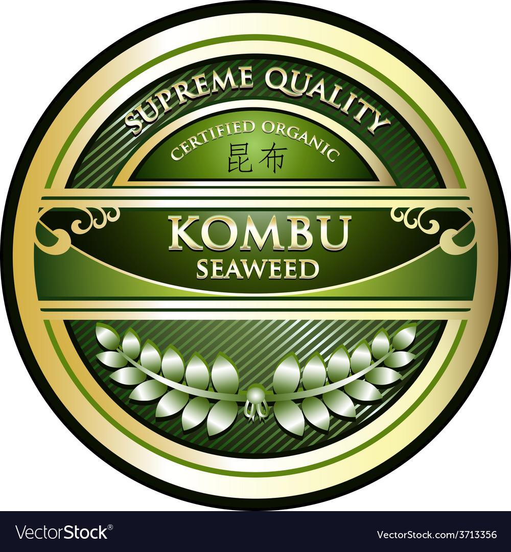 Kombu seaweed vector | Price: 1 Credit (USD $1)