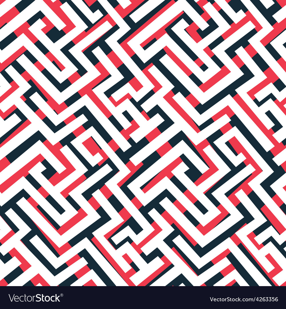 Red maze pattern vector | Price: 1 Credit (USD $1)