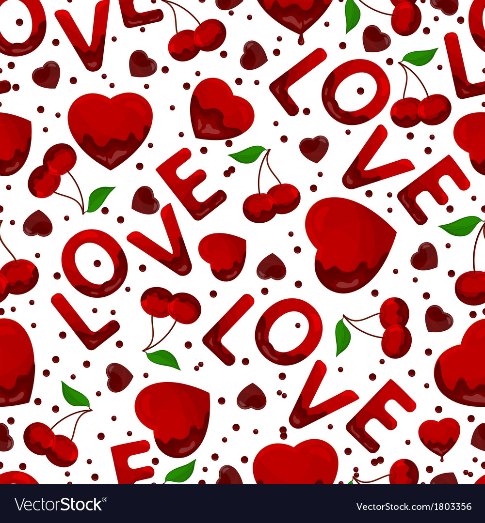Seamless background by st valentines day vector | Price: 1 Credit (USD $1)