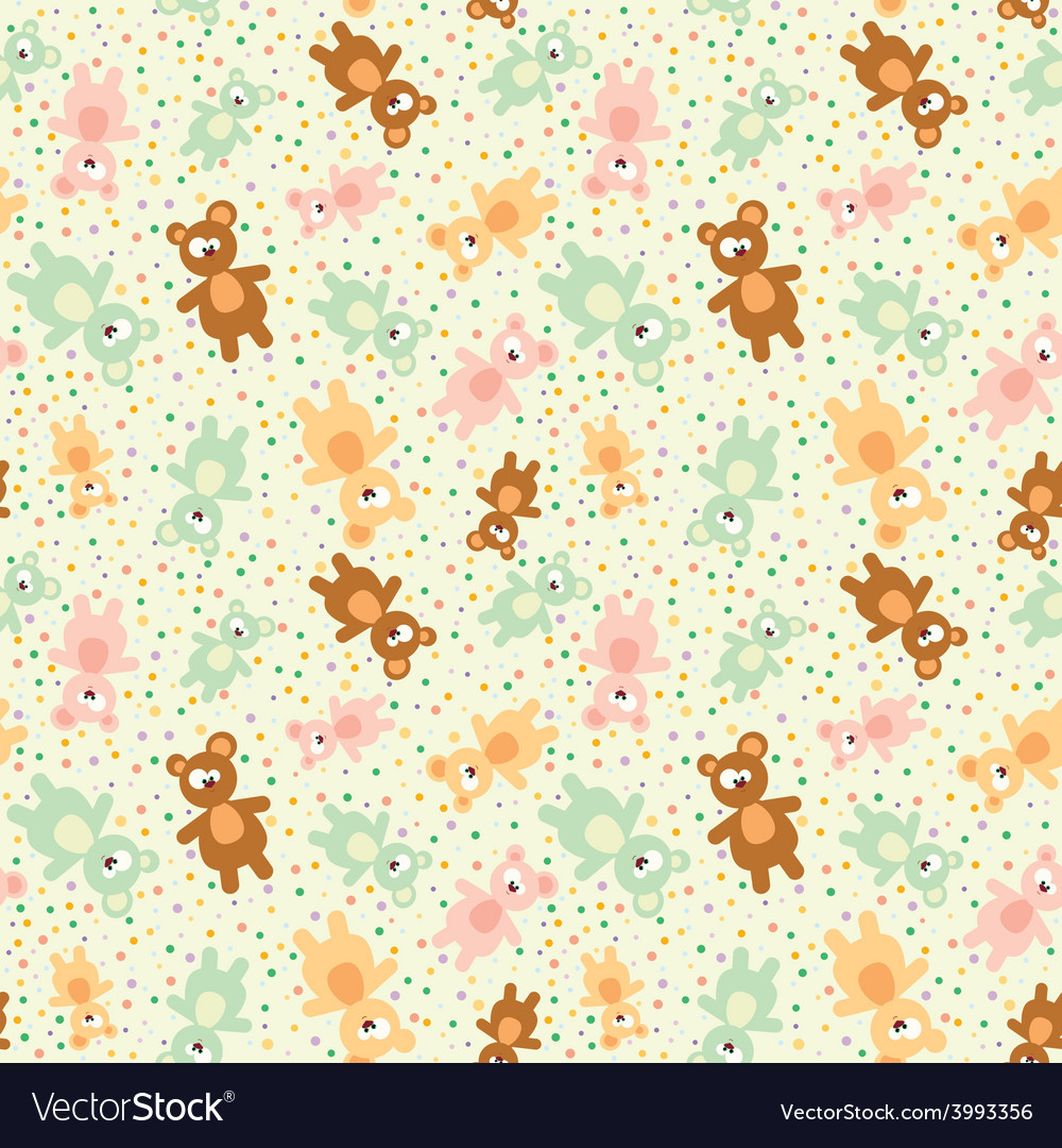 Seamless pattern with teddy bears vector | Price: 1 Credit (USD $1)