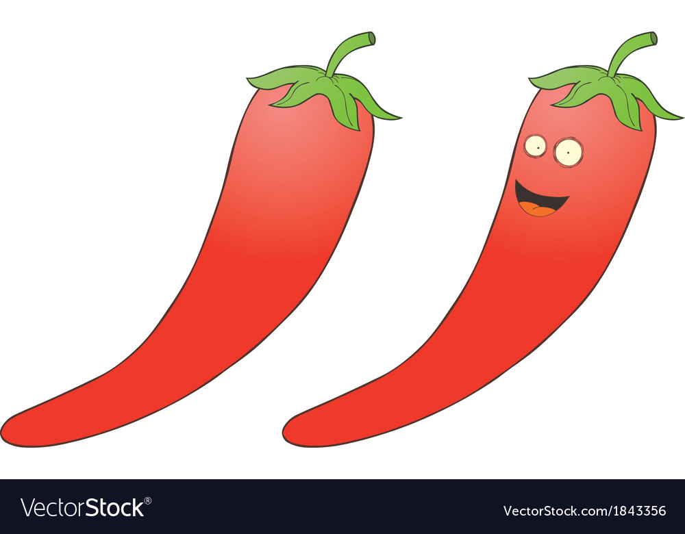 Smiling chilli pepper vector | Price: 1 Credit (USD $1)