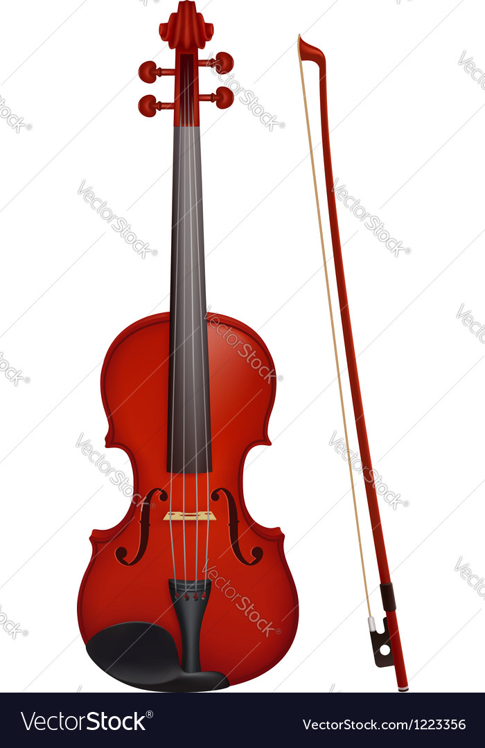 Violin with the fiddlestick vector | Price: 3 Credit (USD $3)