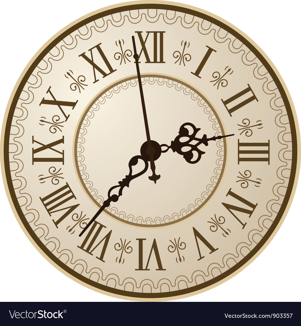 Antique clock vector | Price: 3 Credit (USD $3)