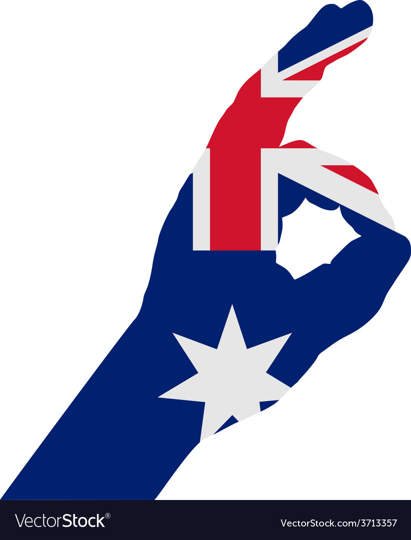 Australian hand signals vector | Price: 1 Credit (USD $1)
