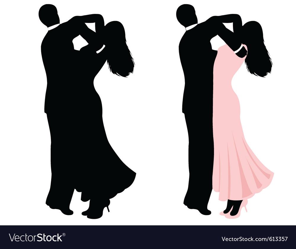 Couple dancing vector | Price: 1 Credit (USD $1)