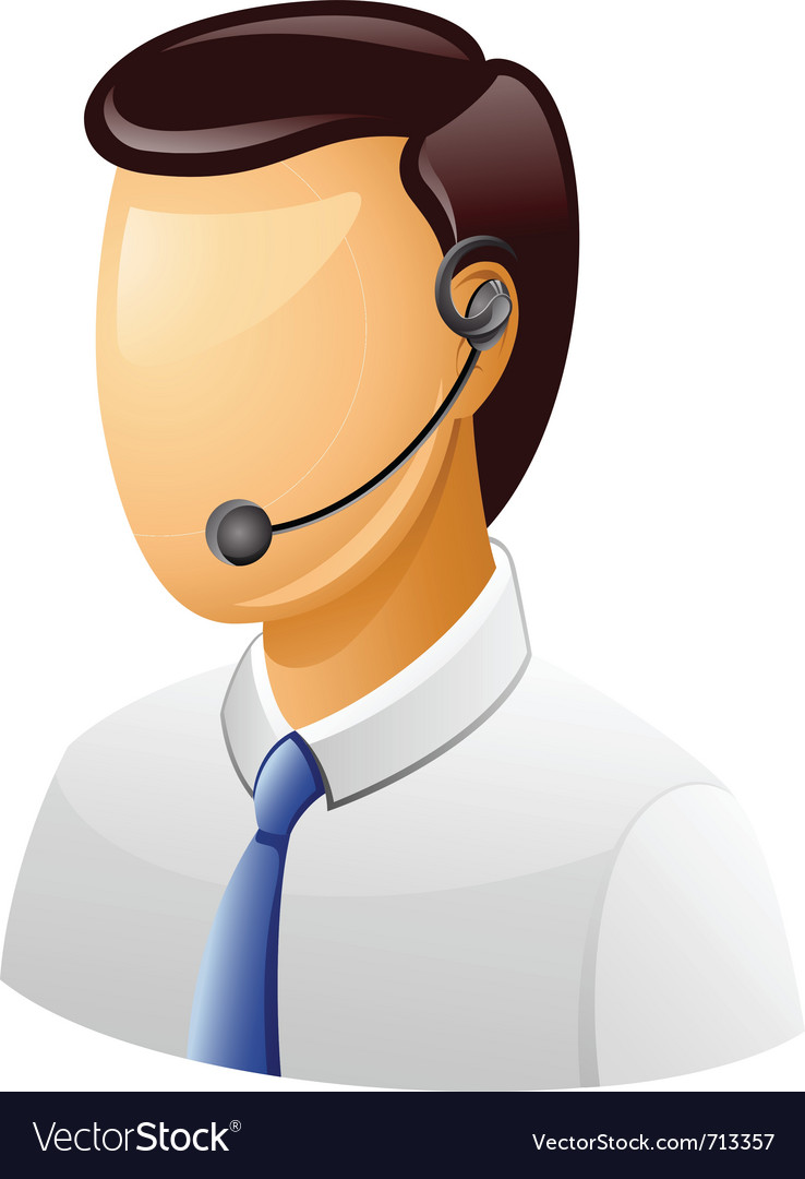 Customer support icon vector | Price: 1 Credit (USD $1)
