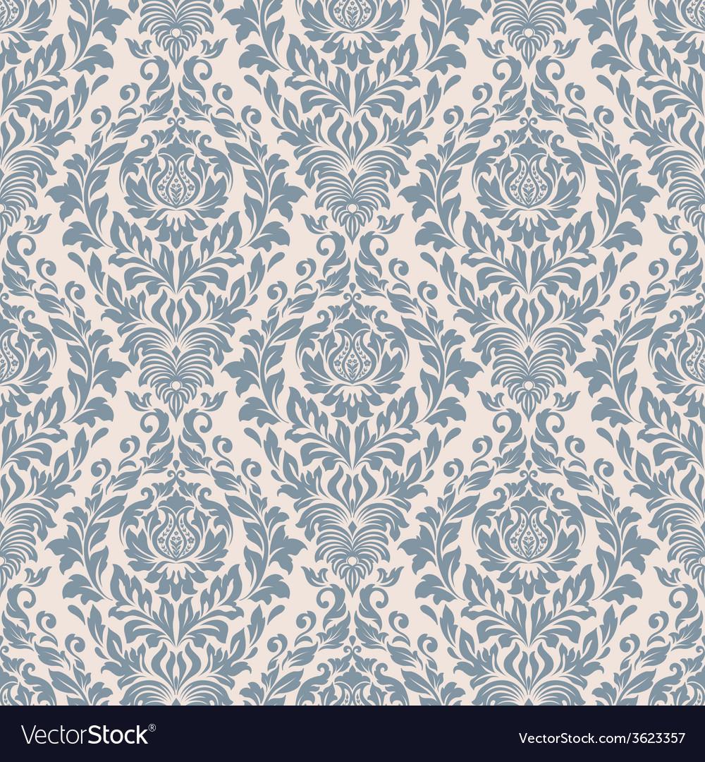 Damask seamless pattern background elegant luxury vector | Price: 1 Credit (USD $1)