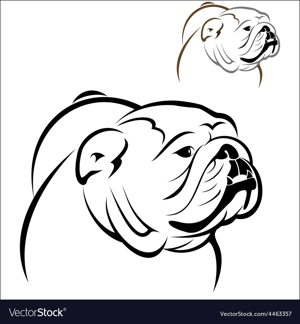English bulldog 2 vector | Price: 1 Credit (USD $1)