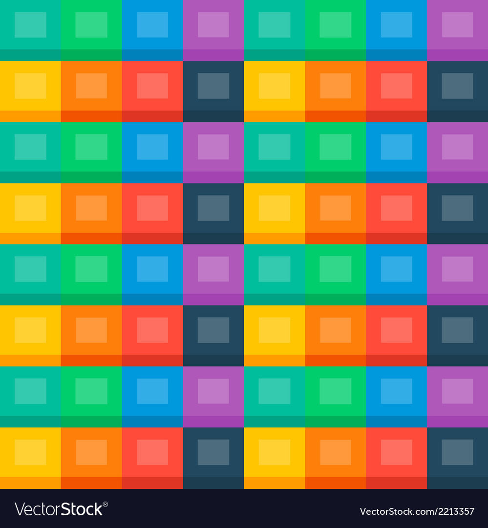 Flat boxes seamless background vector | Price: 1 Credit (USD $1)