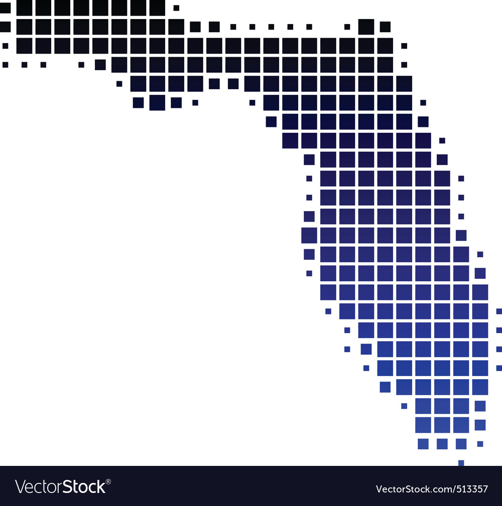 Map of florida vector | Price: 1 Credit (USD $1)
