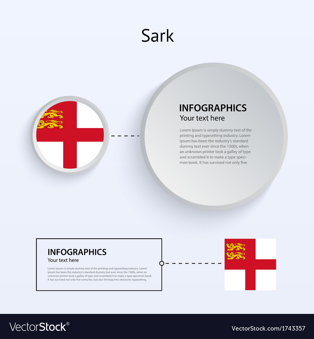 Sark country set of banners vector | Price: 1 Credit (USD $1)