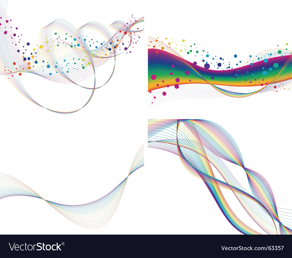 Set of colorful lines vector | Price: 1 Credit (USD $1)