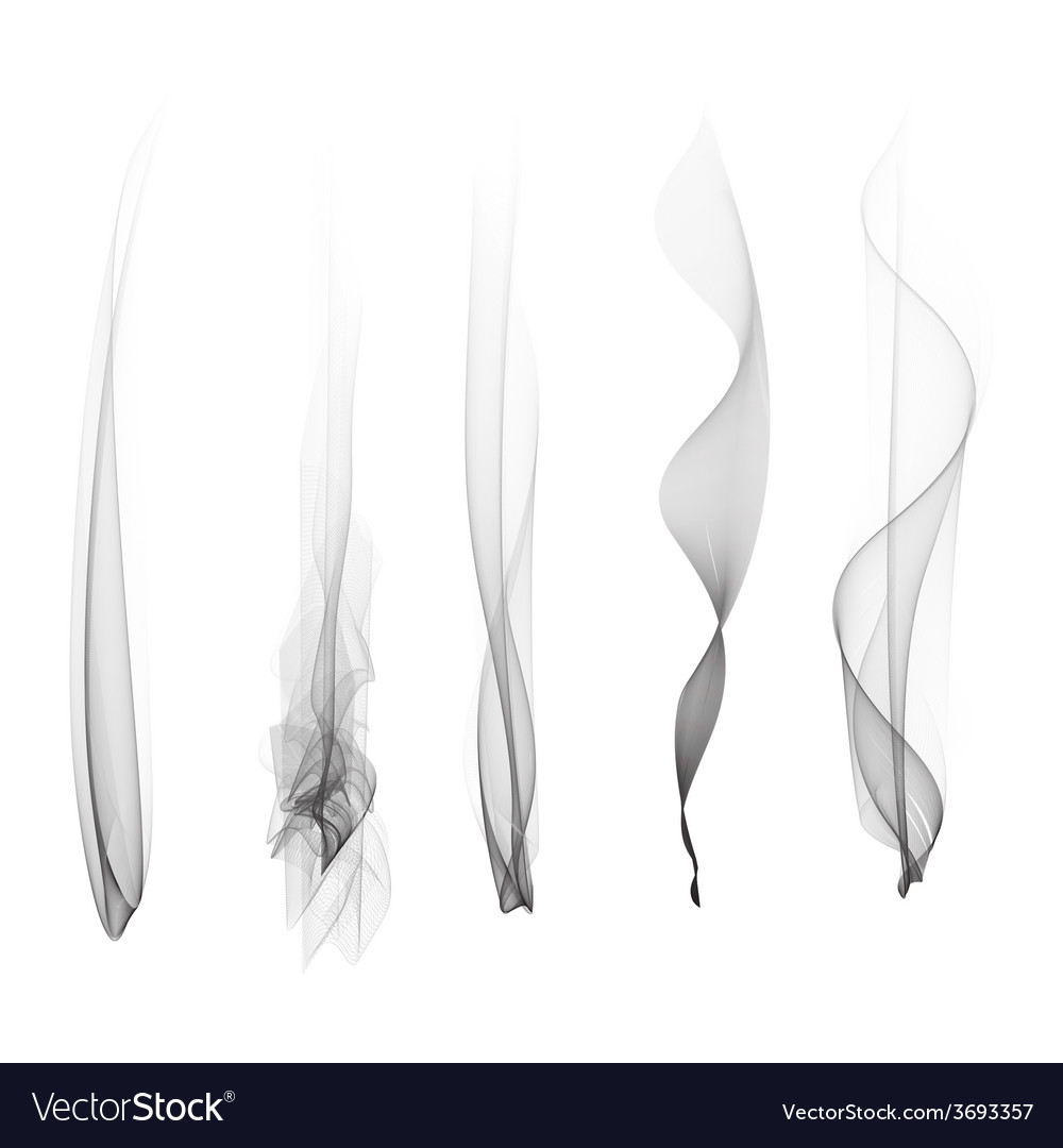 Set of smoke effect smooth flame vector | Price: 1 Credit (USD $1)