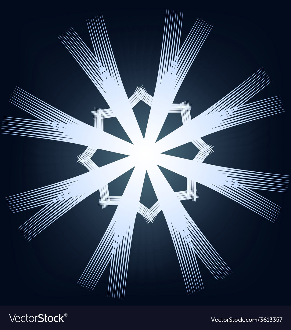 Shining snowflake vector | Price: 1 Credit (USD $1)