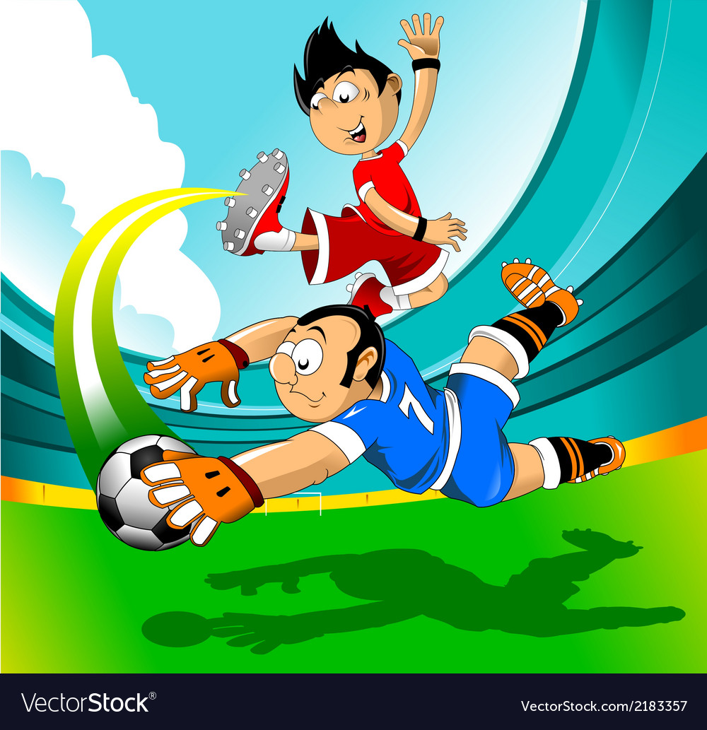 Soccer players cartoon vector | Price: 1 Credit (USD $1)