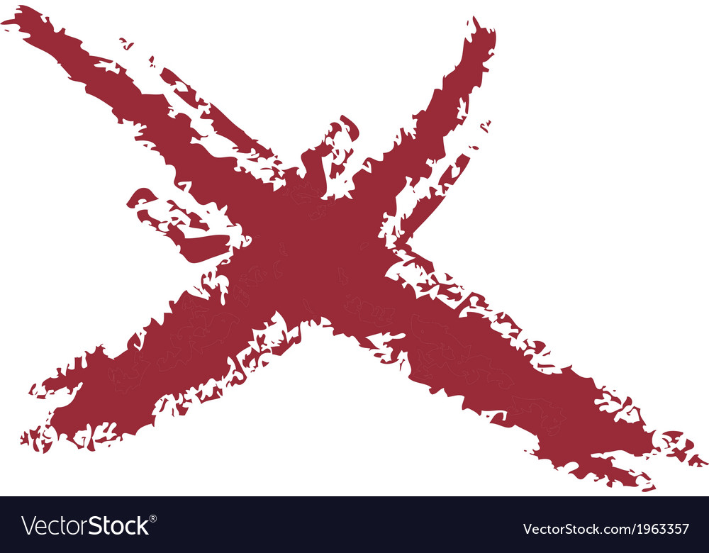 X mark brushed vector | Price: 1 Credit (USD $1)