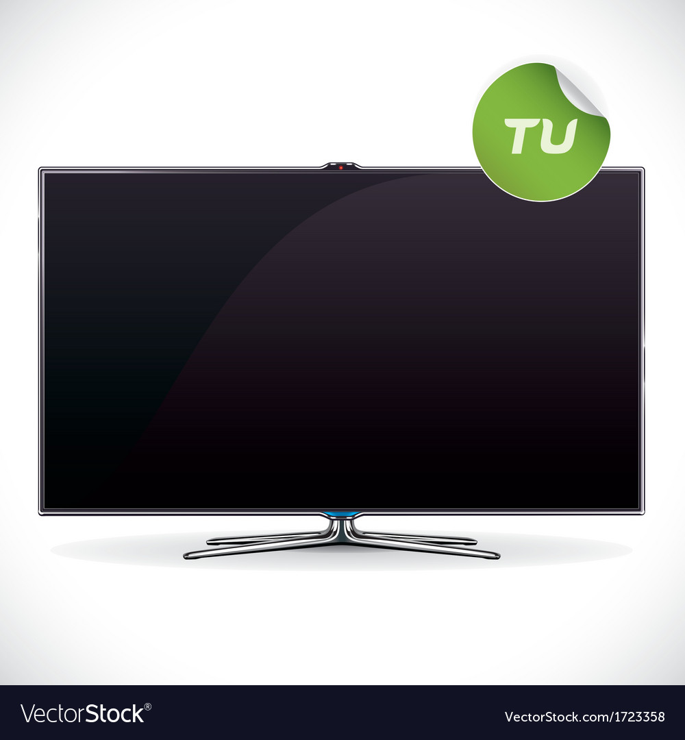 Black glossy lcd tv vector | Price: 1 Credit (USD $1)