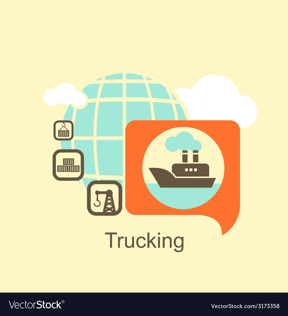 Cargo ship icon vector | Price: 1 Credit (USD $1)