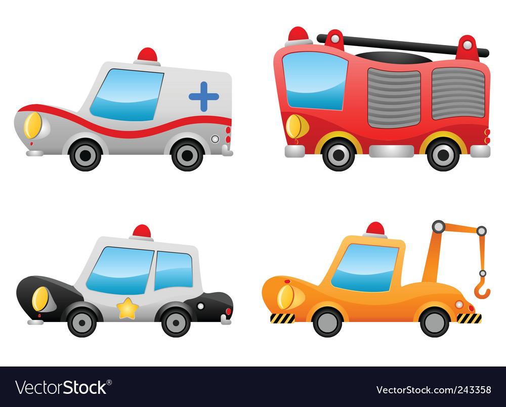 Cartoon vehicles vector | Price: 1 Credit (USD $1)