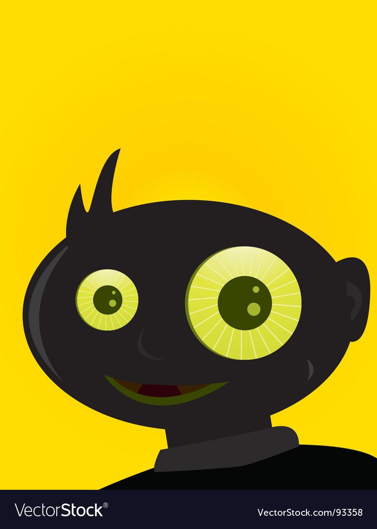 Creepy boy vector | Price: 1 Credit (USD $1)