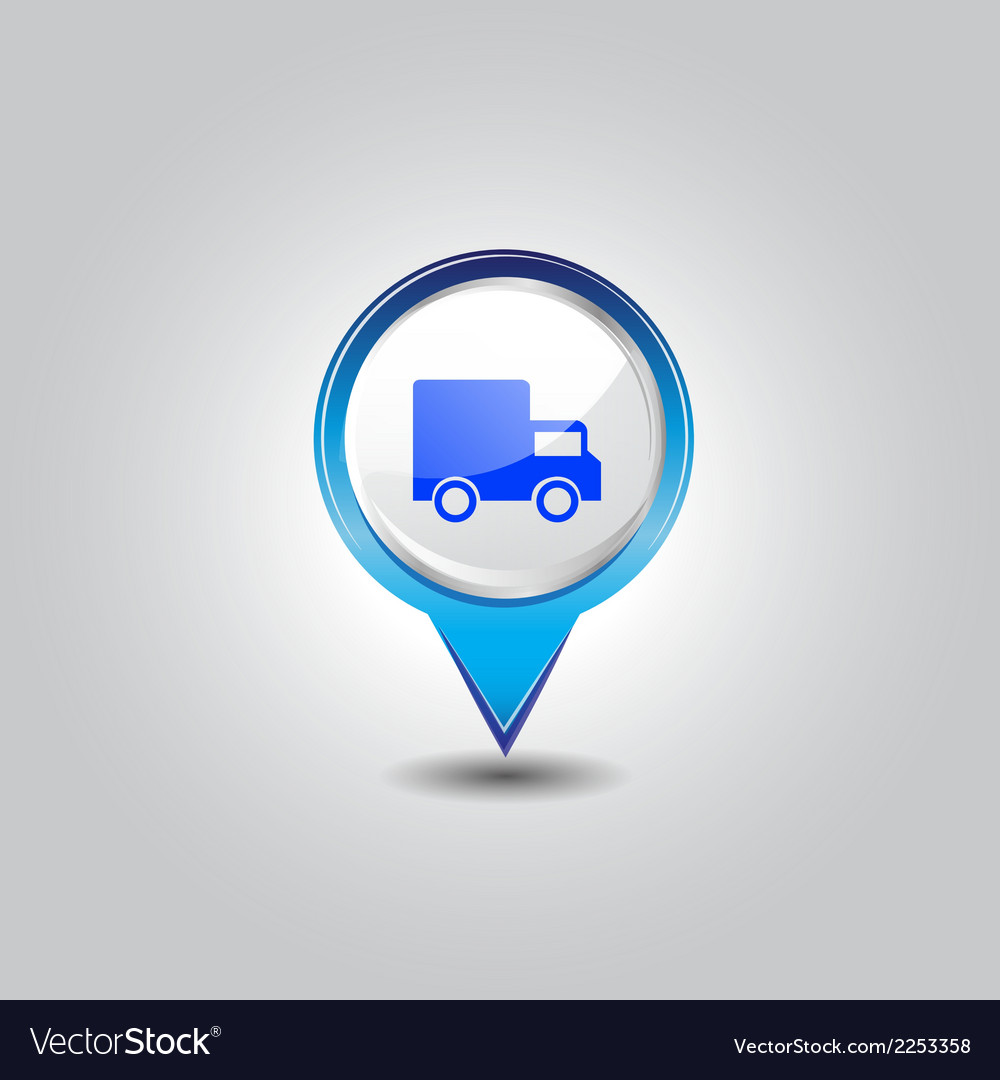 Delivery pins vector | Price: 1 Credit (USD $1)