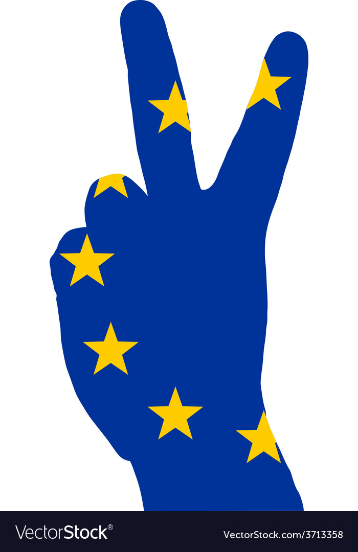 European finger signal vector | Price: 1 Credit (USD $1)