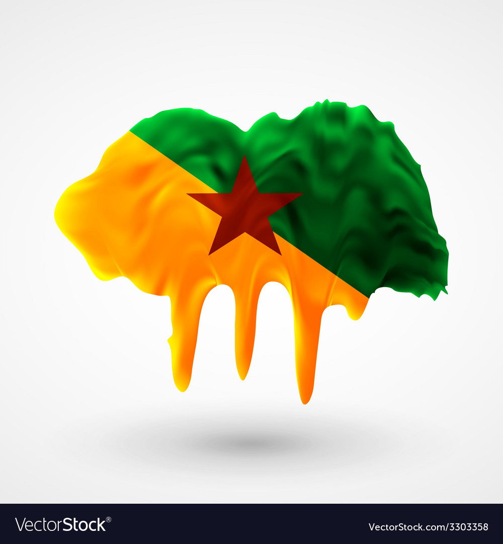 Flag of guiana painted colors vector | Price: 1 Credit (USD $1)