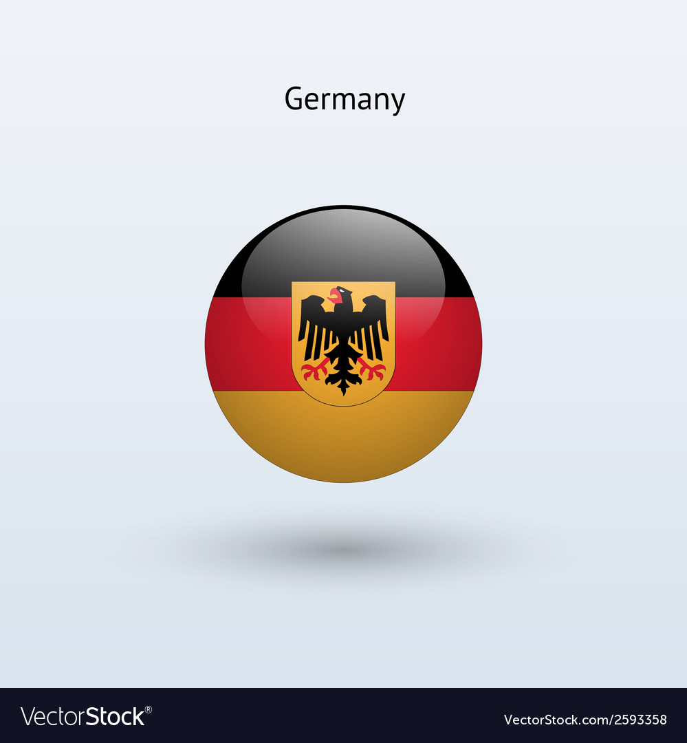 Germany round flag vector   Price: 1 Credit (USD $1)