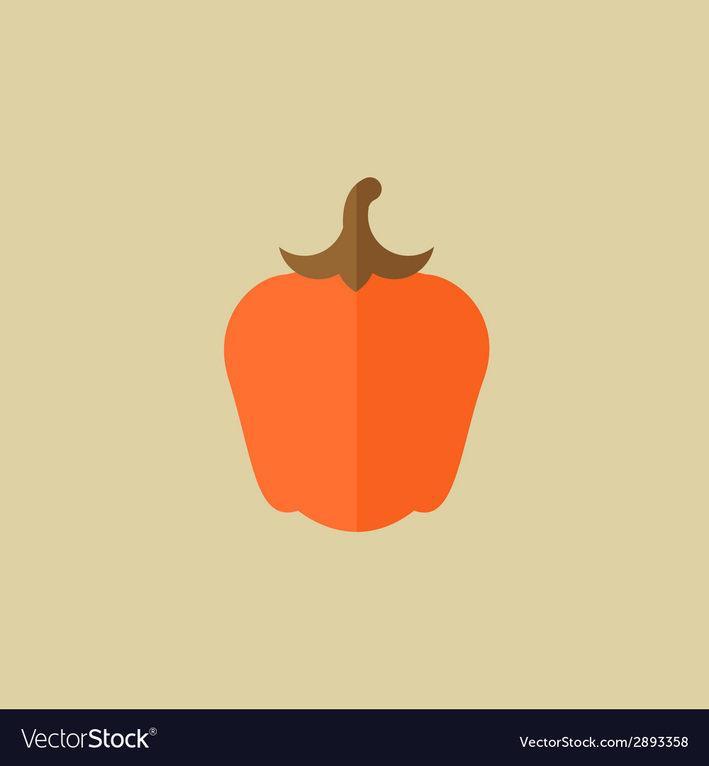 Pepper food flat icon vector | Price: 1 Credit (USD $1)