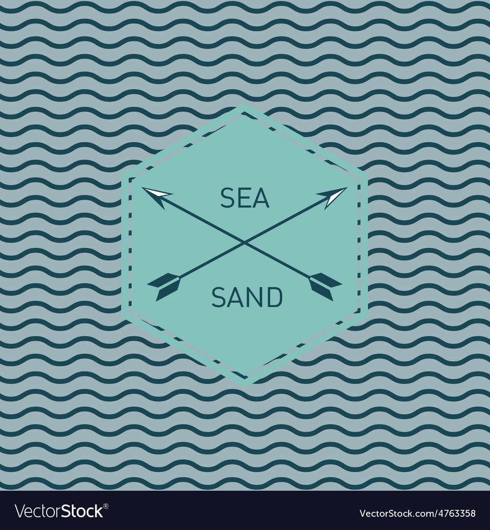 Sea waves pattern vector | Price: 1 Credit (USD $1)