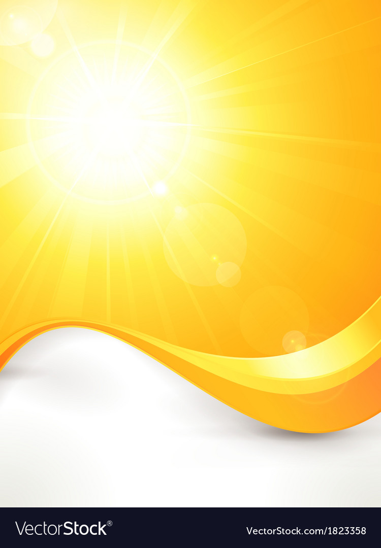 Vibrant hot summer sun with lens flare and vector | Price: 1 Credit (USD $1)