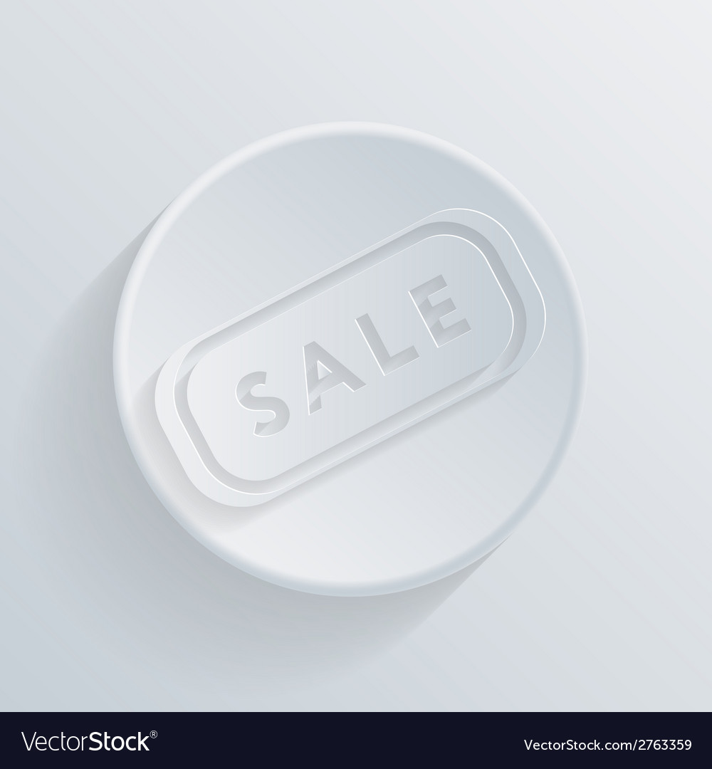 Circle icon with a shadow plate sale vector | Price: 1 Credit (USD $1)