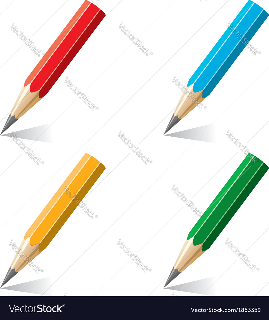 Colorful pencils vector | Price: 1 Credit (USD $1)