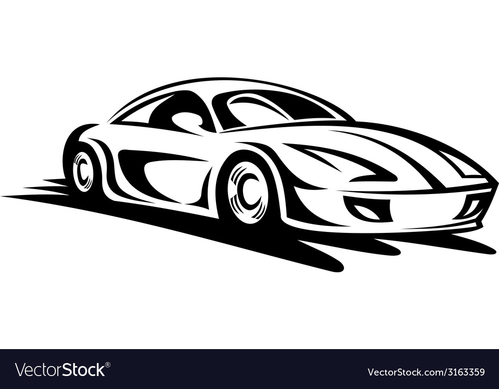 Fast moving car vector | Price: 1 Credit (USD $1)