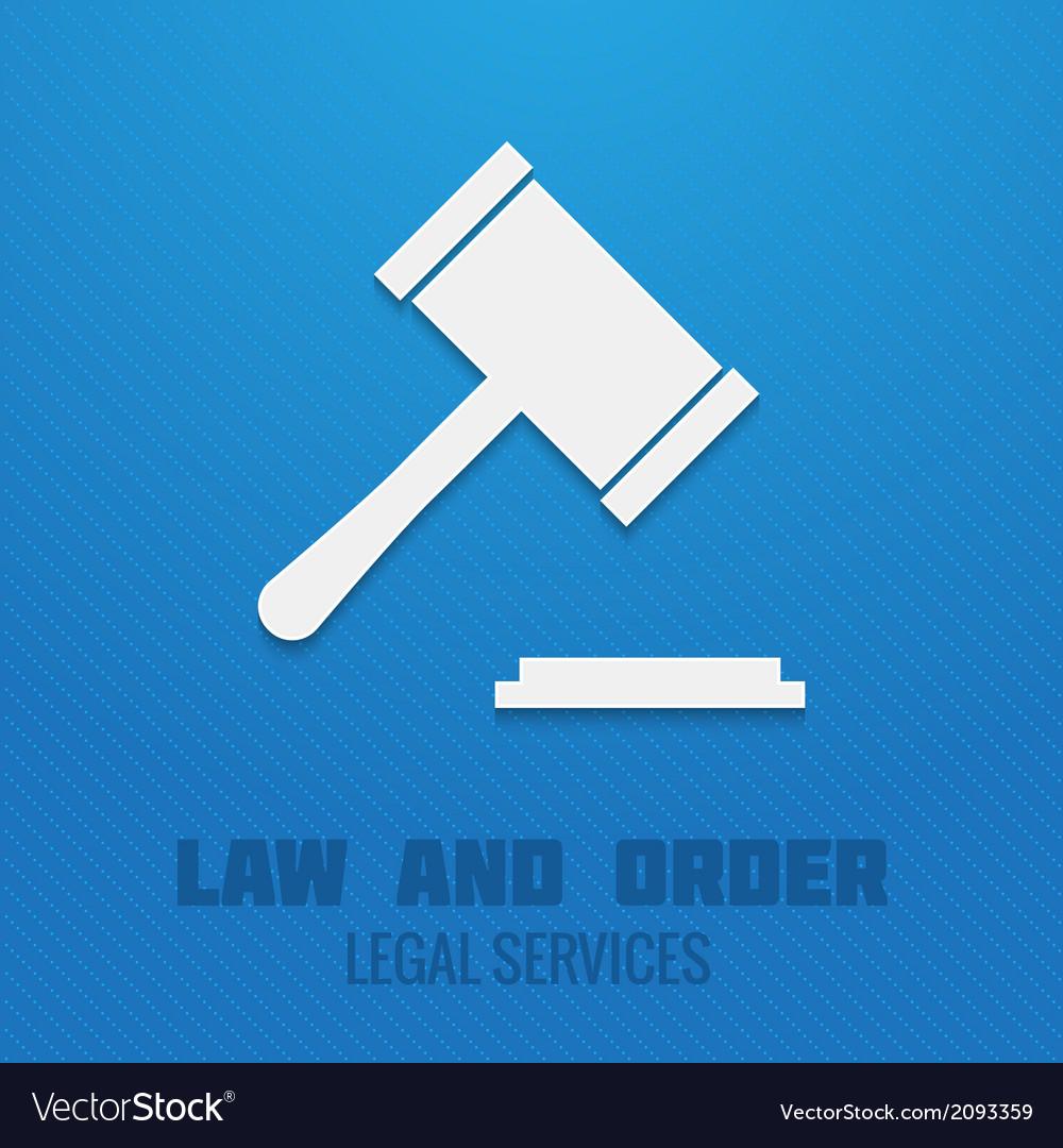 Judge gavel poster vector | Price: 1 Credit (USD $1)
