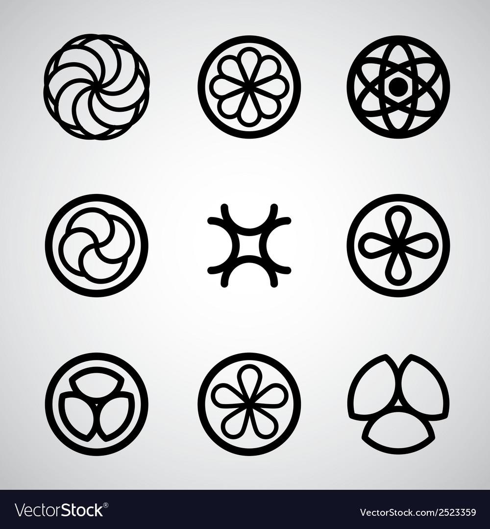 Round symbols set vector | Price: 1 Credit (USD $1)