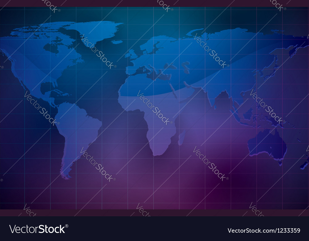 World map on dark color background vector | Price: 1 Credit (USD $1)