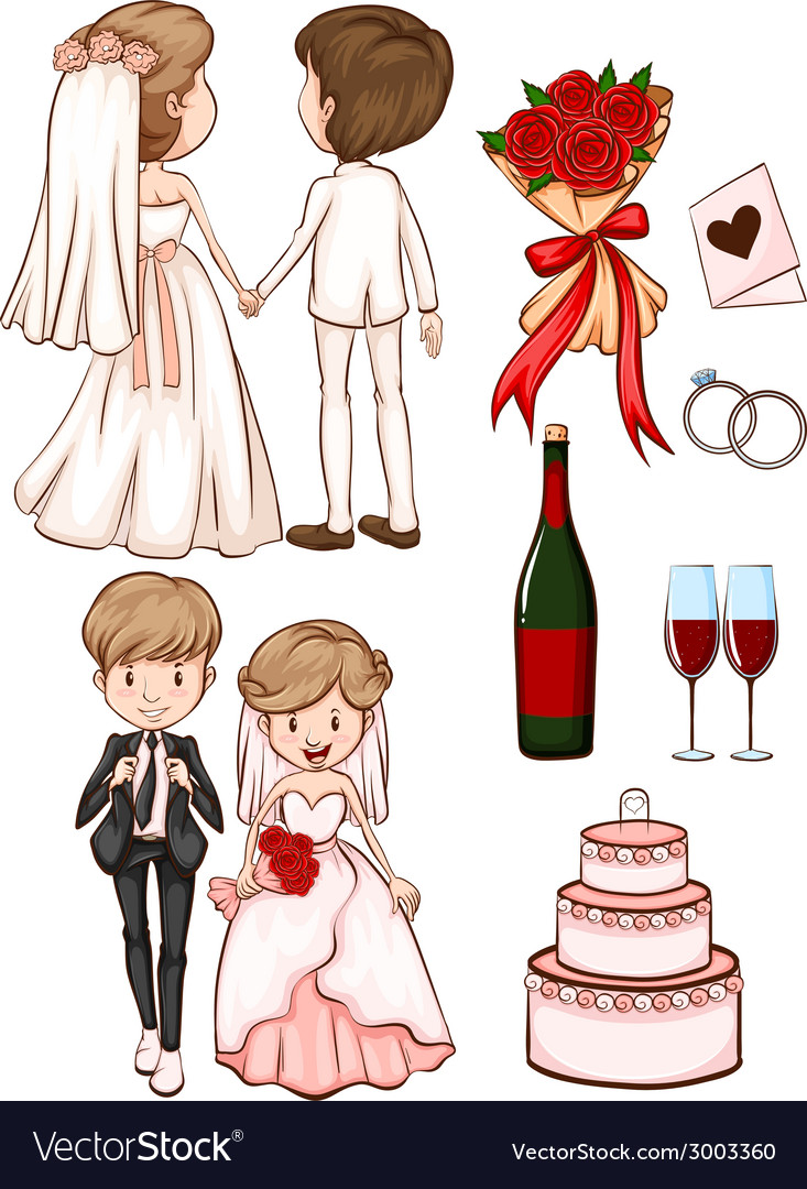 A simple sketch of a wedding vector | Price: 1 Credit (USD $1)