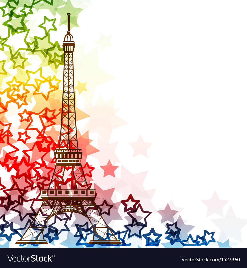 Eiffel tower isolated over the white background vector | Price: 1 Credit (USD $1)