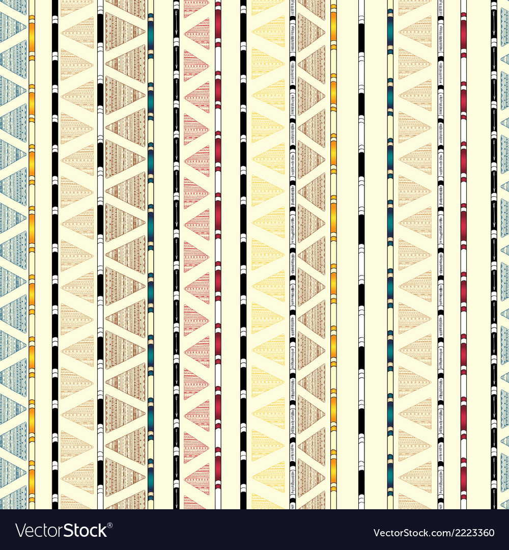 Ethnic geometric tribal decorative seamless vector | Price: 1 Credit (USD $1)