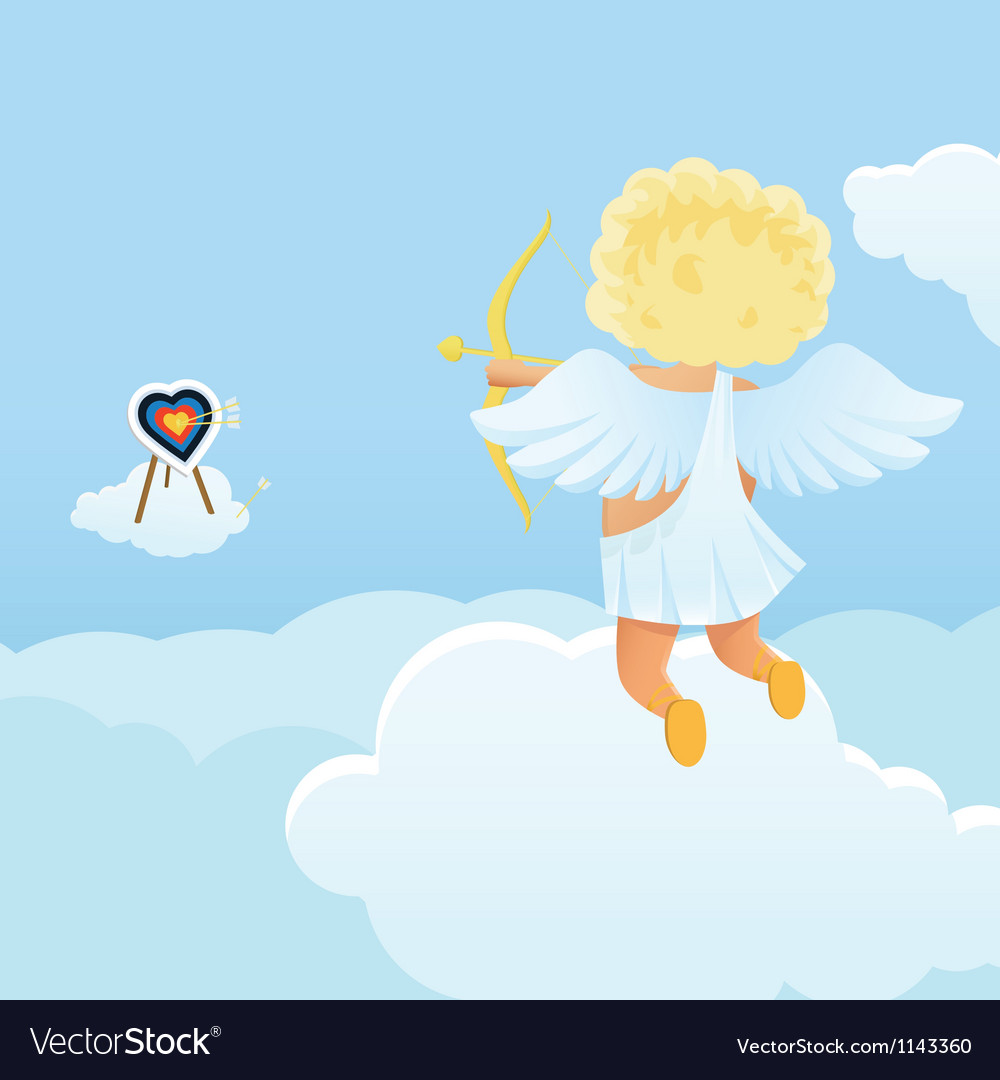 Funny cupid s shooting range vector | Price: 1 Credit (USD $1)