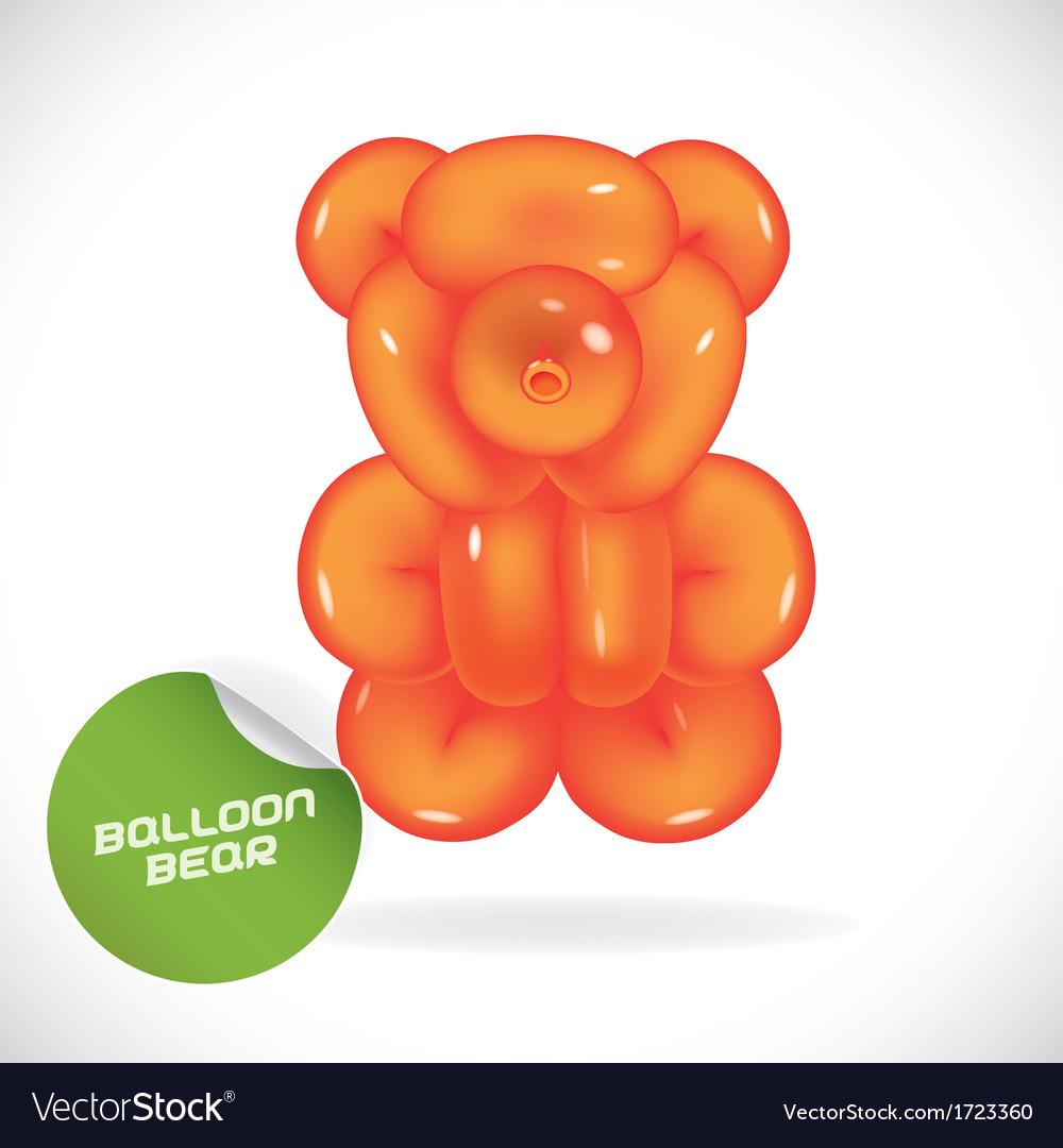 Glossy balloon bear vector   Price: 1 Credit (USD $1)