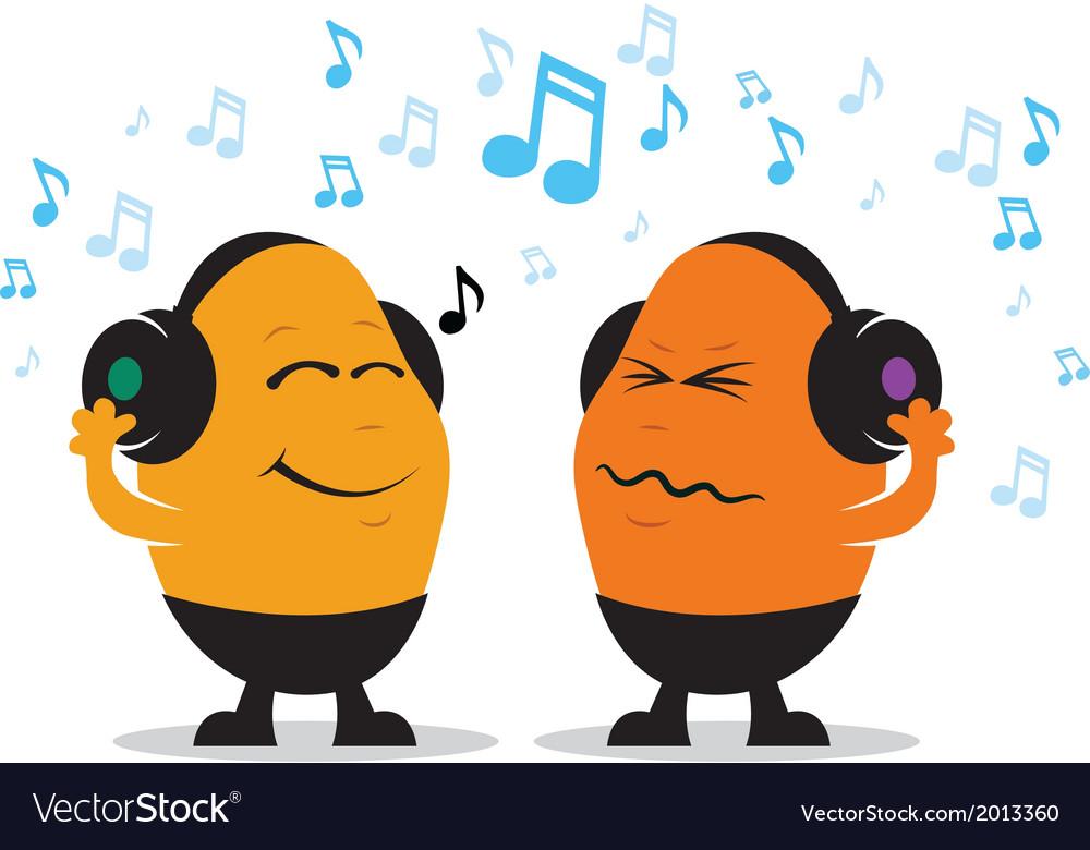 Headphone music cartoon vector | Price: 1 Credit (USD $1)