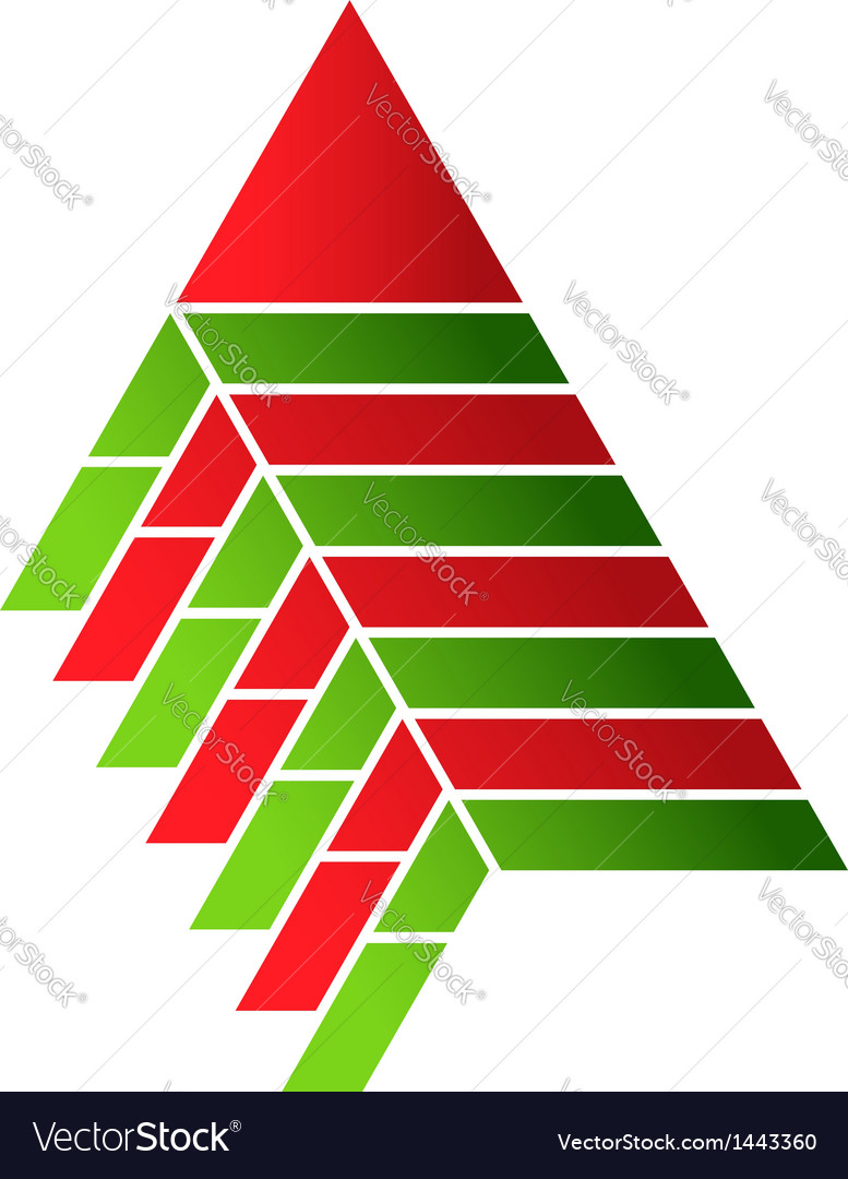 Pyramid food assembly logo vector | Price: 1 Credit (USD $1)