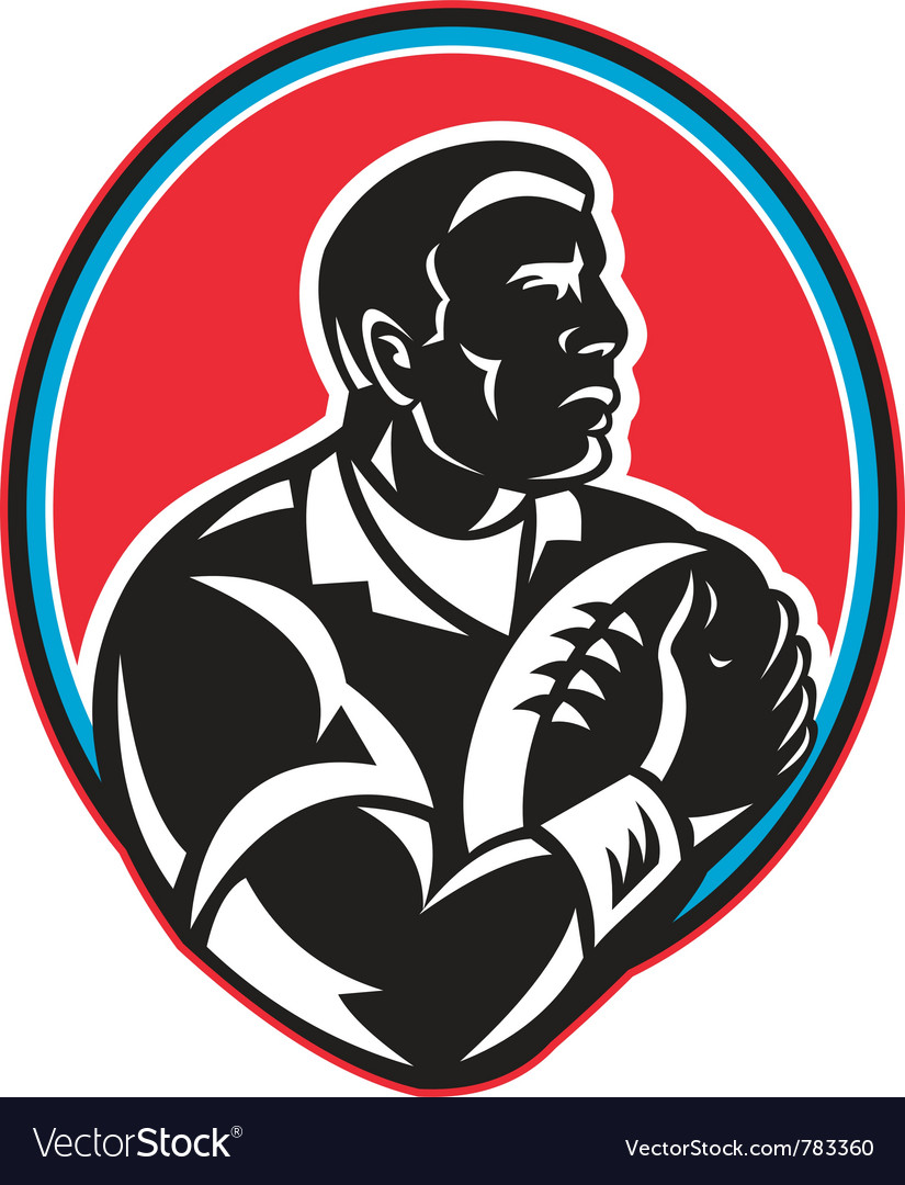 Retro rugby icon vector | Price: 1 Credit (USD $1)
