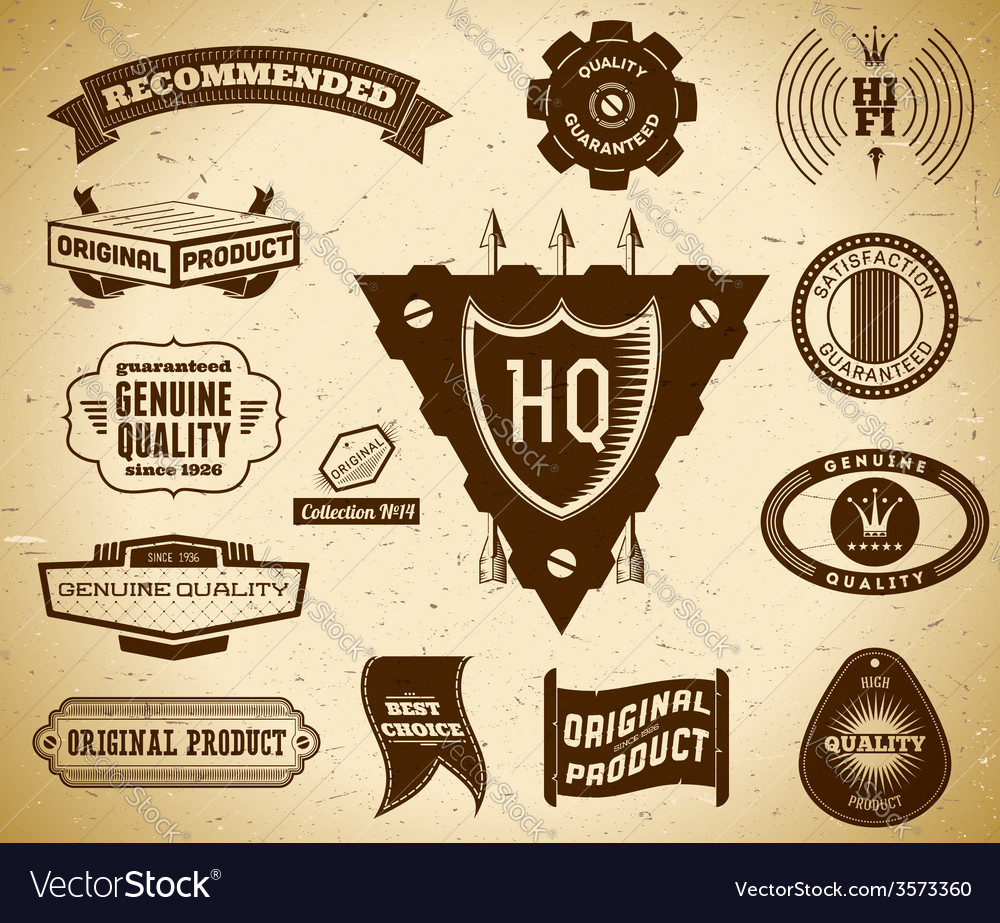 Vintage labels collection 14 vector | Price: 1 Credit (USD $1)