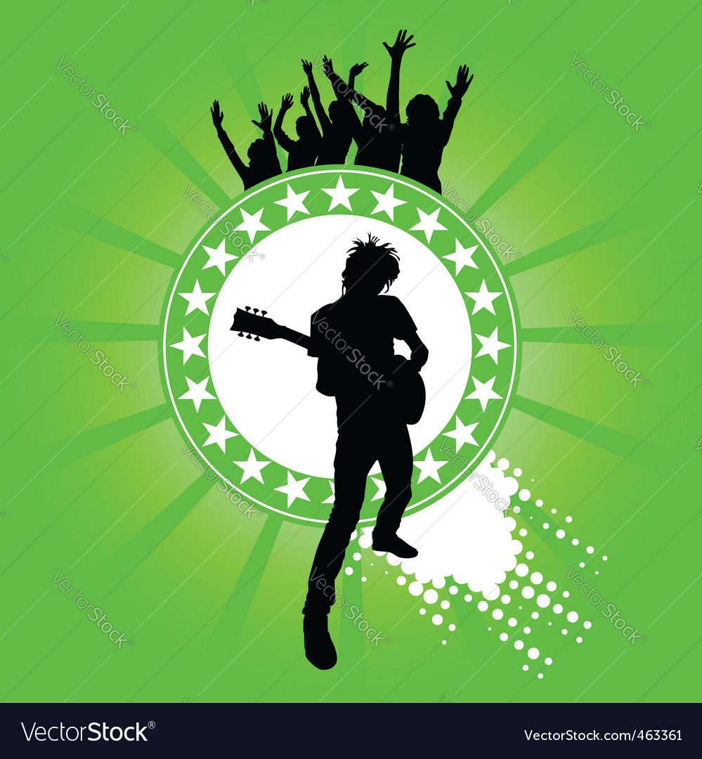 A man and his guitar vector | Price: 1 Credit (USD $1)