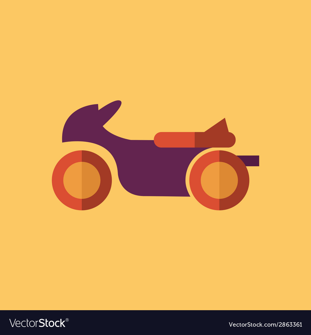 Bike transportation flat icon vector | Price: 1 Credit (USD $1)